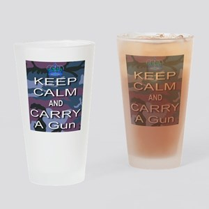 Keep Calm and Carry A Gun Drinking Glass